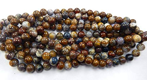 Super Quality Gemstone Beautiful Jewelry Natural pietersite Round Smooth 10 mm Round Shape Beads 15 Inches 1 Strand Code-JP-2601   B07KVVP1YN