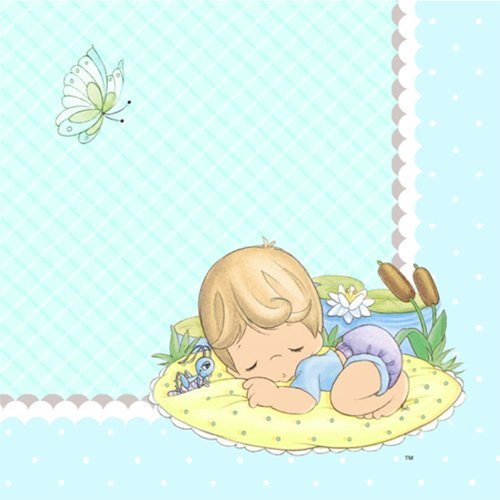 Exceptional Amazon.com: Precious Moments Baby Shower Napkins   Baby Boy Baby Shower  Beverage Napkins   16 Count: Toys U0026 Games