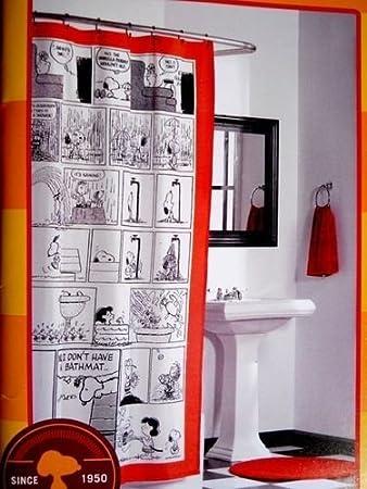 Peanuts Swimmer Fabric Shower Curtain