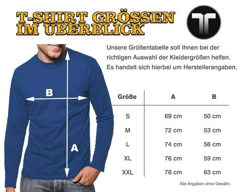 Touchlines - Camiseta - Manga Larga - para hombre marrón