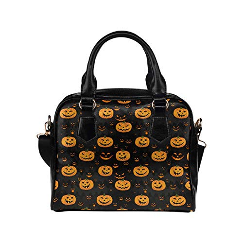 Halloween Pumpkin Funny Women's PU Leather Purse Handbag Shoulder ()