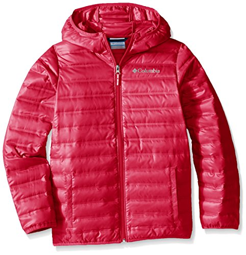 Columbia Youth Flash Forward Hooded Down Jacket, Medium, Punch Pink