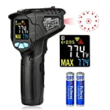 Digital Laser Infrared Thermometer Non-Contact Digital Laser IR Temperature Gun for Kitchen Cooking BBQ Automotive Industrial Thermostat with Flashlight HD Backlight LCD Temp Display