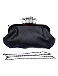 FreshGadgetz Leather Skull Clutch PU Purse Rings Duster Knuckle Style Party Bag