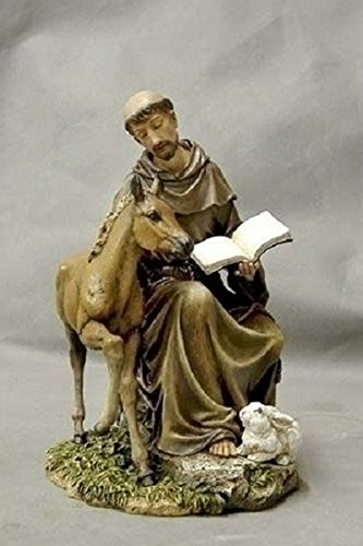 8.5 Inch Seated St Francis Statue ()
