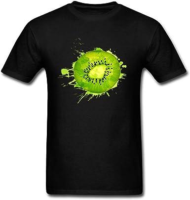 Desconocido Gzq33 Kiwi Fruit Slice - Camiseta de cuello redondo para hombre: Amazon.es: Ropa y accesorios
