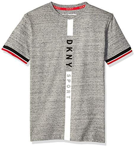 Price comparison product image DKNY Boys' Big Short Sleeve Fashion T-Shirt,  Sport Heather Light,  10 / 12