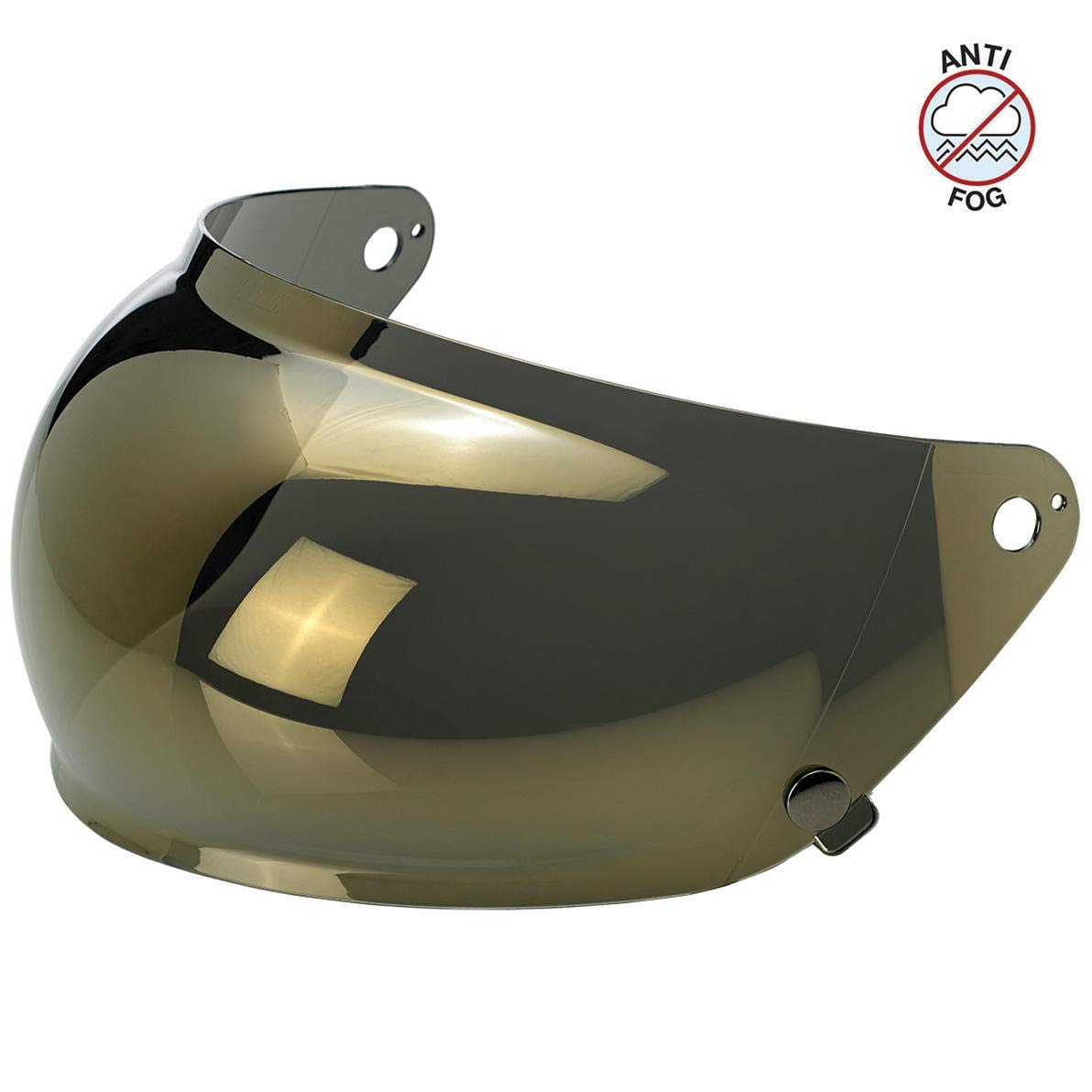 Biltwell Unisex-Adult's (BA-GLD-GS-SD) Gringo S Bubble Shield - Gold Mirror Anti-Fog, One Size,