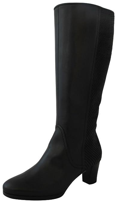 3ec0e92e6a6a Gabor Comfort 36.598.37 Damen Stiefel Winterstiefel  (Weitschaftstiefel Boots) mit Blockabsatz