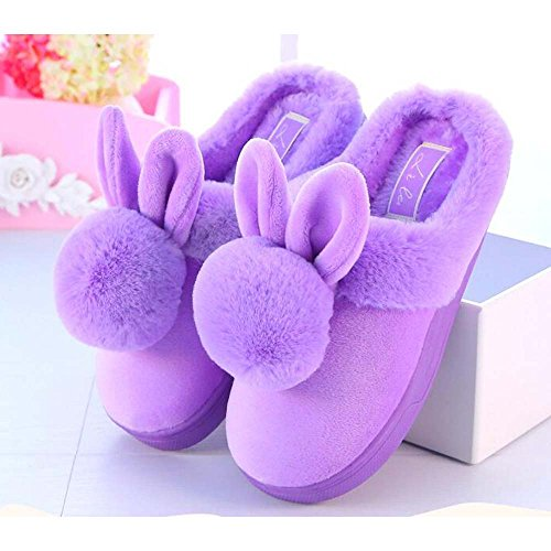 Anti Men's Pink Warm Slippers Eastlion Skid Plush Children's Home Keep Boots Winter Indoor Shoes Lovely Women's FwqfwE8