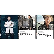 James Bond Film Collection 23/24/25 Quantum of Solace - Skyfall & Spectre 007 DVD Daniel Craig three films Action Movie Set