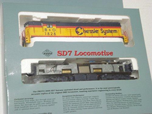 Proto 2000 Series SD7 Chessie System B&O Locomotive 1828