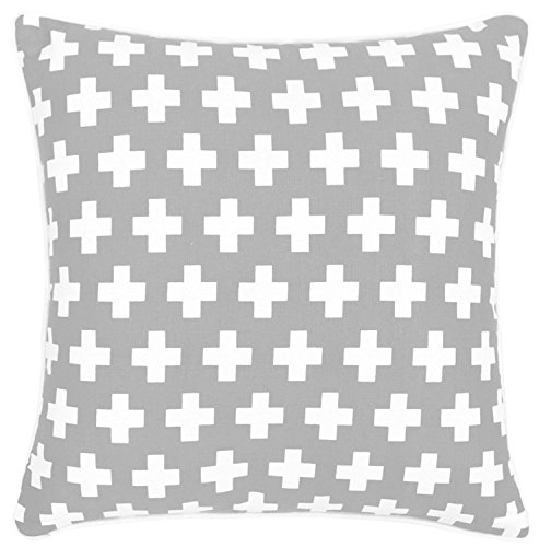 - Bath Bed Decor 2 Packs Throw Pillow Covers 100% Cotton Decorative Gray Cushion Covers With Hidden Zipper for Sofa & Bed Home Decoration, 18 X 18 Inches Cushion Couch Pillow Covers set of 2(45cmx45cm)