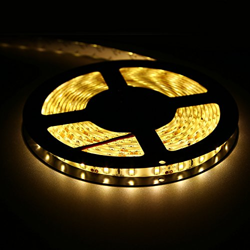 FAVOLCANO Super Bright Flexible LED Strip Light 5630 Luminaria High Power 300 LED 5M Christmas Lighting Home Decoration Lamps Car light Warm white Waterproof 5M/lot by FAVOLCANO (Image #1)