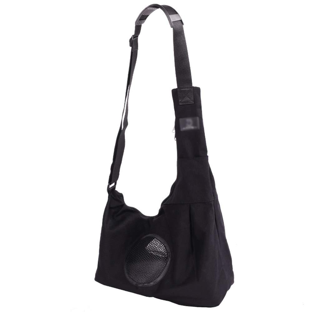 Black 34X19X56cm Black 34X19X56cm Pet Backpack Foldable Outgoing Carrying Case Shoulder Bags Handbag Dog Bags Cat Cage (color   Black, Size   34X19X56cm)