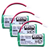 truCELL 3-Pack High-Capacity Replacement Battery for V-Tech , ATandT Cordless Phones Equivalent to V-Tech BT183342 , BT283342 , ATandT BT166342, Office Central