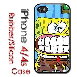 iPhone 4 4S Rubber Silicone Case - Spongebob Squarepants Sponge Bob