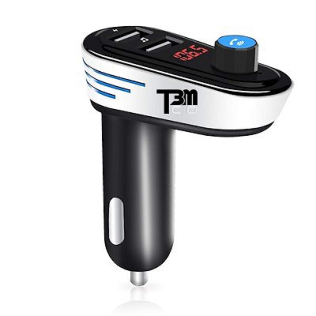 [2018] T3MCO Ultimate Coche Bluetooth FM transmisor 2 x Puerto USB de Carga rá pida, Reproductor de MP3 para Coche