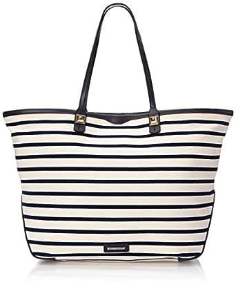 Rebecca Minkoff Everywhere Tote Shoulder Bag, Navy Stripe, One Size