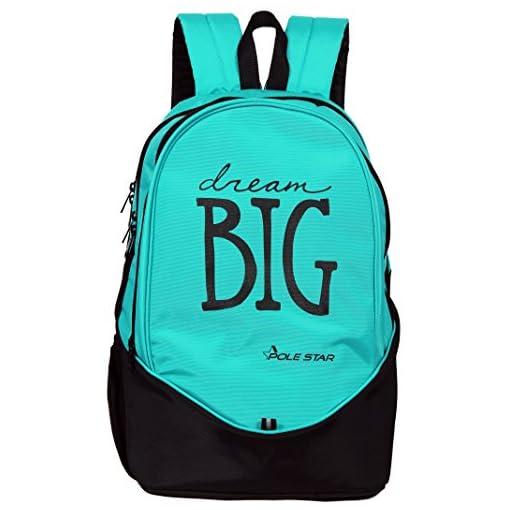 POLE STAR BIG3 38 Lt Turquise Blue Black Casual Backpack