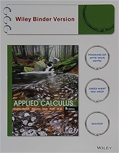 Applied Calculus Deborah Hughes-Hallett
