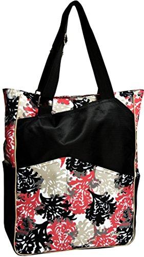 Glove It Women's Tennis Tote Bag Big Fashion Tote Bag for Women - Womens Large Tote Bags with Zipper & Shoulder Strap - 6 Outside Pockets - Ladies Sport Totes - 2018 Coral Reef ()
