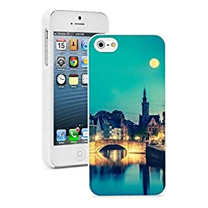 Apple iPhone 5 5S Hard Back Case Cover Color European Medieval Night (White)