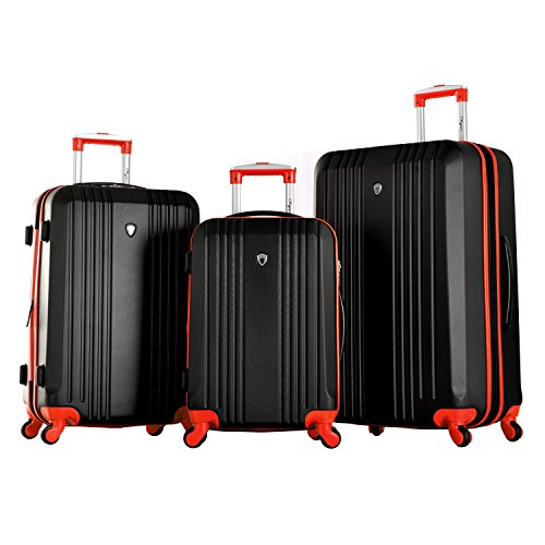 Olympia Apache 3pc Hardcase Spinner Luggage Set, Black/Red by Olympia (Image #8)