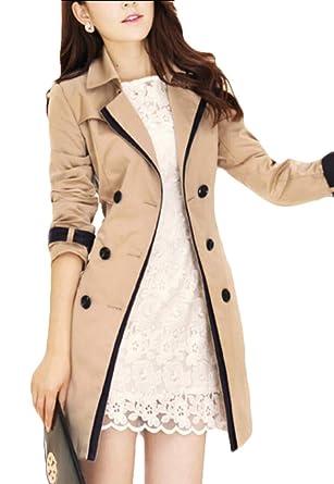 Amazon.com: M&S&W - Chaqueta de solapa para mujer, cálida ...