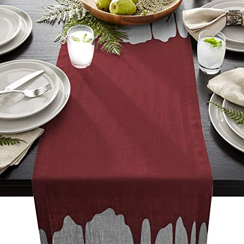 wanxinfu Table Runners for Party/Wedding, Halloween Blood Help