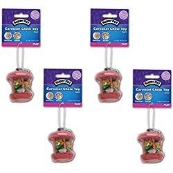 (4 Pack) Super Pet Carousel Chew Toys - Apple, Small