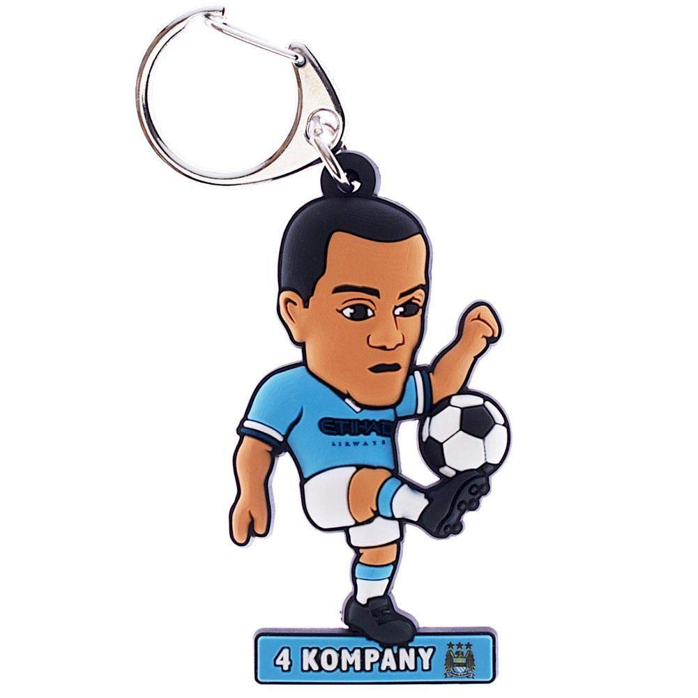 Manchester City FC PVC Kompany Keyring