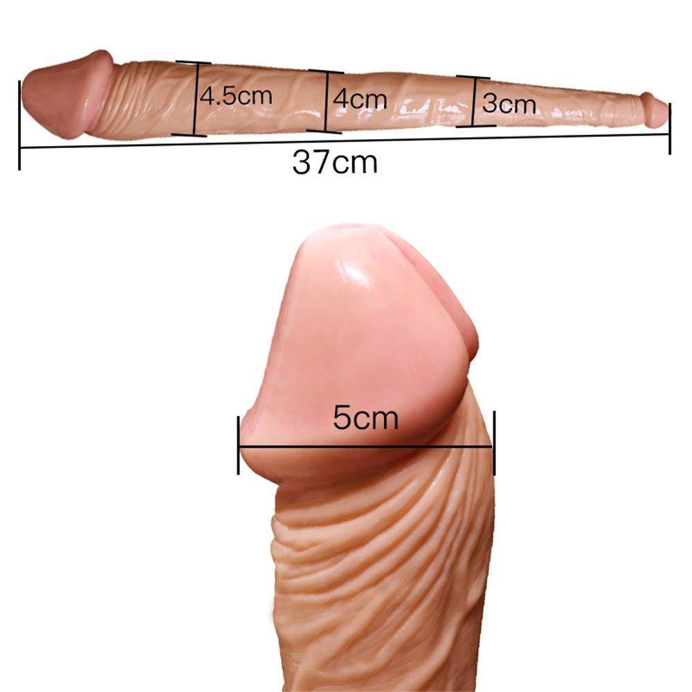 Grande Grande Grande Doppio Dildo Con 37 Centimetri Doppio Colore Della Pelle Ø 3-4,5 Cm Doppio Dildo Per Te Doppio Pene Replica Doppia Penetrazione Doppio Sex Toys bde389
