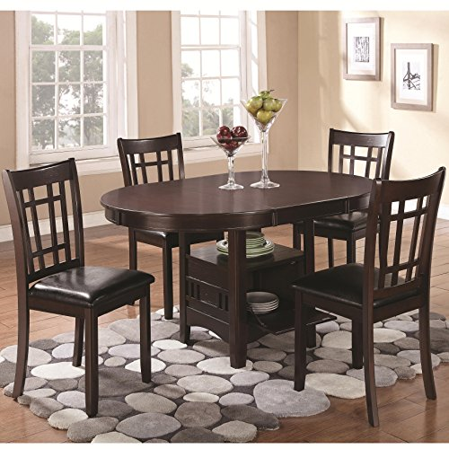 Coaster Home Furnishings Lavon 5-Piece Storage Table Dining Set Espresso and Black