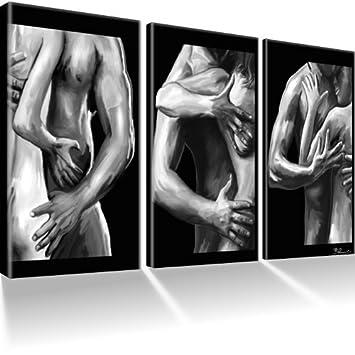 Amazon.de: Akt & Erotik & Nude Bilder auf Leinwand mit Keilrahmen ...