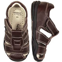 pediped Grip-N-Go Sydney Sandal (Toddler),Chocolate Brown,19 EU (4-4.5 M US Toddler)