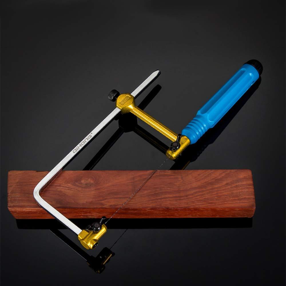 Scie /à archet polyvalente Mimi scie /à m/étaux avec 12 lames de scie cuisine scie /à m/étaux r/églable verre outil id/éal pour le travail du bois bois plastique