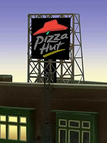 Miller Signs 33-8985 Model N & Z scale Pizza Hut Billboard