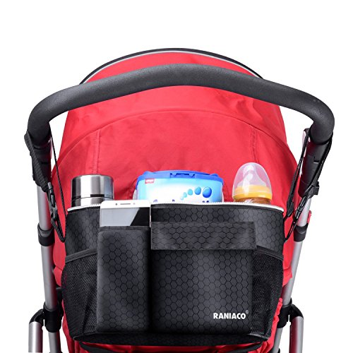 Raniaco Multi-Functional Baby Stroller Attachable Organizer Bag - Universal Design, Conveniently Portable Sized Lunch Bag