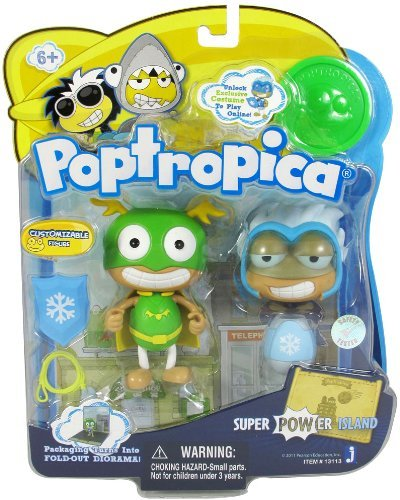 Poptropica 3 Inch Mini Figure Toy 2Pack Super Power Island (Poptropica Toys)