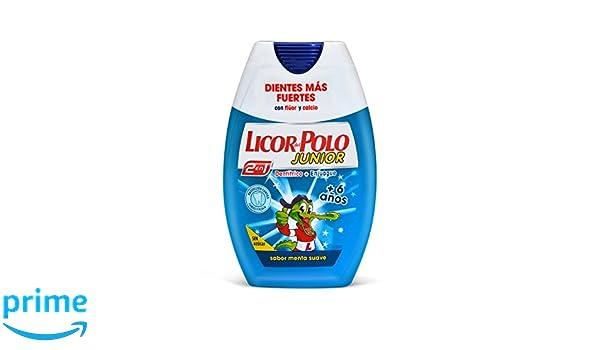 Licor del Polo Dentífrico + Enjuague 2 en 1 +6 Años Menta - 75 ml ...