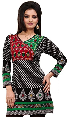 Indian-Tunic-Top-Womens-Kurti-Printed-Blouse-India-Clothes