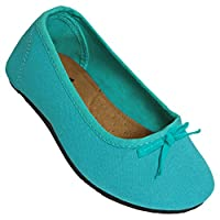 Toddlers Kaymann Ballet Slippers Teal Size 9
