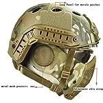 QZY Casque de Protection Airsoft Paintball ETS Casques Tactiques avec Masque de Maille en Acier Set de Jeux CS 8… 8