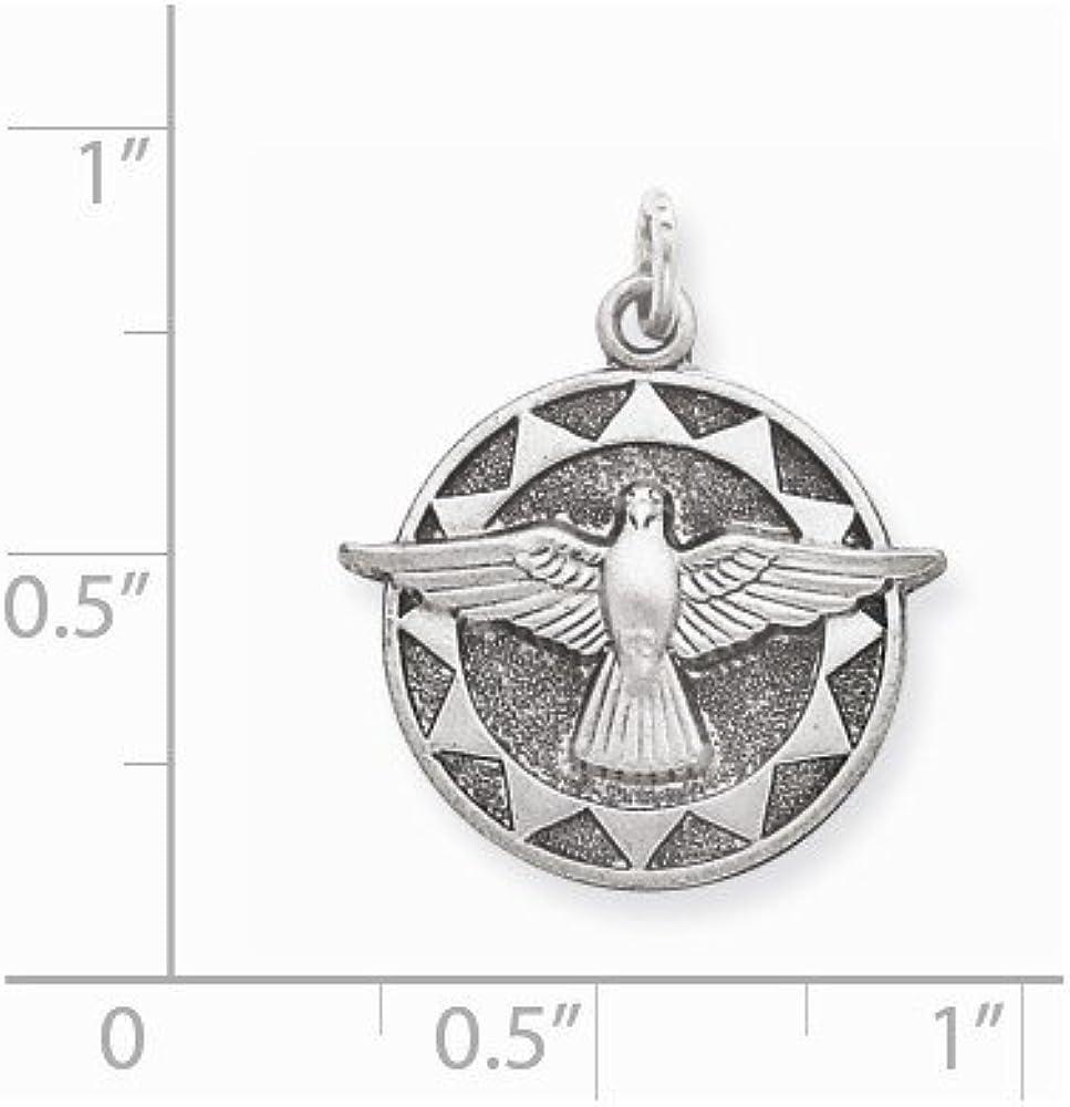 Diamond2Deal Medaillen-Anh/änger f/ür Damen 925er Sterlingsilber antik