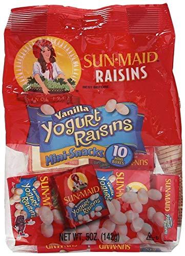 2 Bags Sun Maid Raisins Vanilla Yogurt Raisins 10 Mini Packs