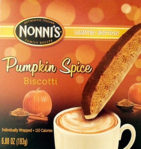 Nonni's Pumpkin Spice Biscotti - Limited Edition - (1) 6.88 Oz. Box