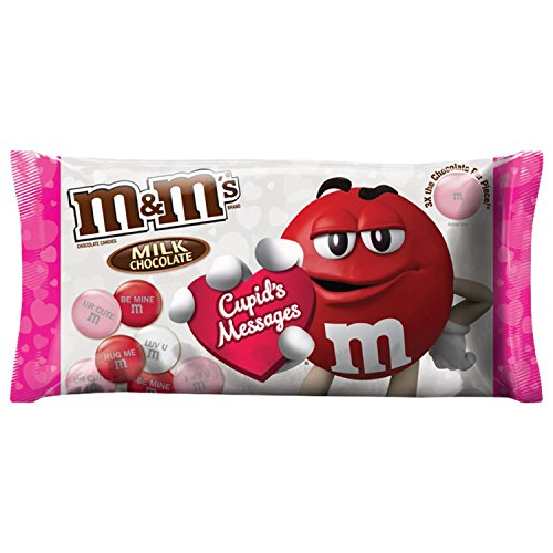 Personalized M And Ms (M&M'S Valentine's Milk Chocolate Mega Size Cupid's Messages Candy 9.5-Ounce)