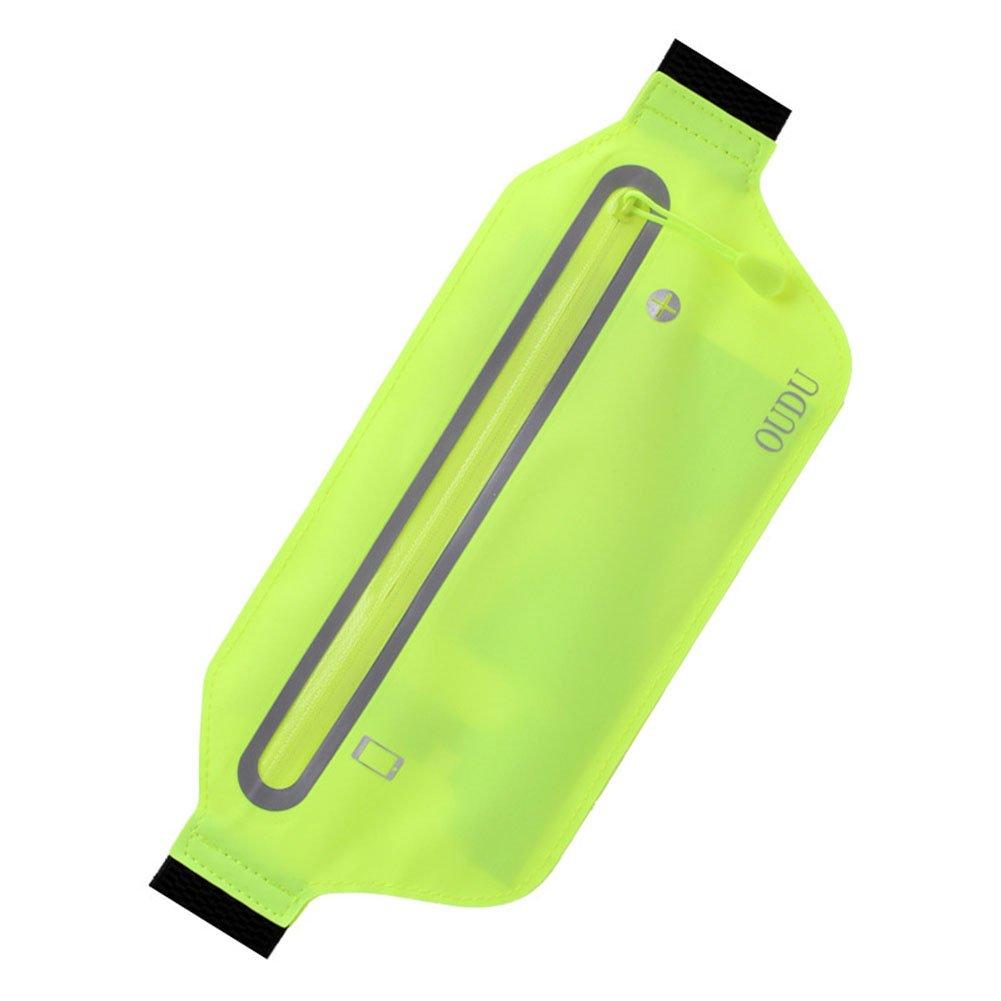 Yiwa Running Banane Unisexe Sports Ultra Fine Invisible Poche pour Té lé phone Portable Multifonction Impermé able Lé ger Waistbag Rose 17 cm