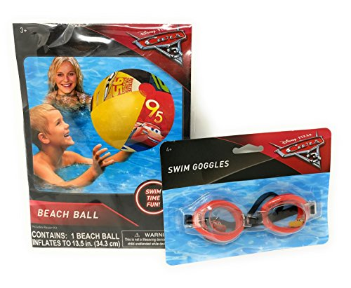 Disney/Pixar CARS 3 - Details & Downloadable Activity Sheets #Cars3 - Disney Cars 3 Inflatable Beach Ball and Swimming Goggles
